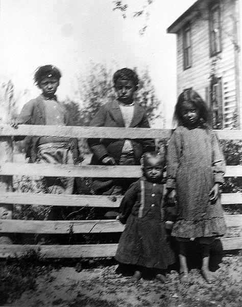 Children of George Major Cook, 1899 King William, Virginia, c. 1899 Left to right: Ottigney Pontiac Cook, George T. Cook, Tecumseh Deerfoot Cook, Captola Cook Pamunkey Tribe