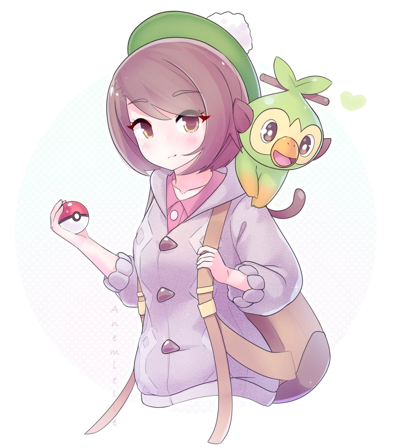 [OC] Pokemon Sword Trainer & Grookey (Merch) pokemon