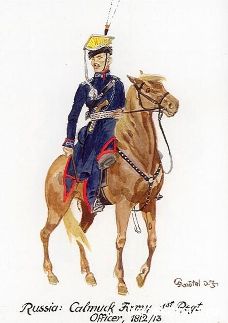 1812-13  Russian Army.  1st Regiment Officer.   nacekomie.ru
