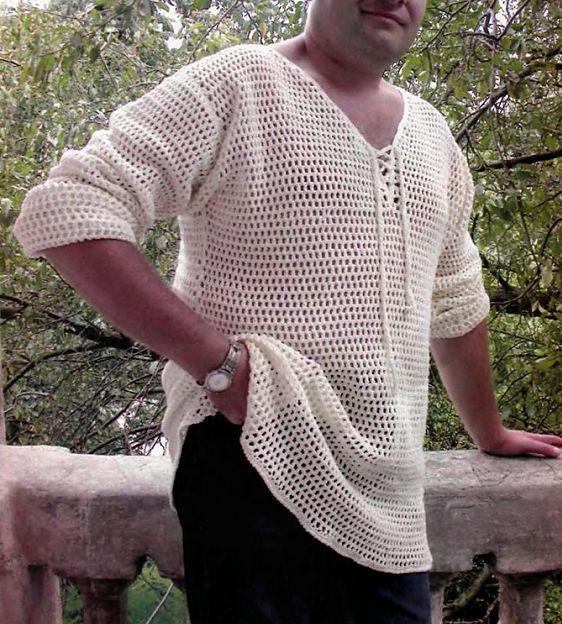 Mens crochet polo shirt | Pinterest | Ganchillo para hombres, Camisa ...