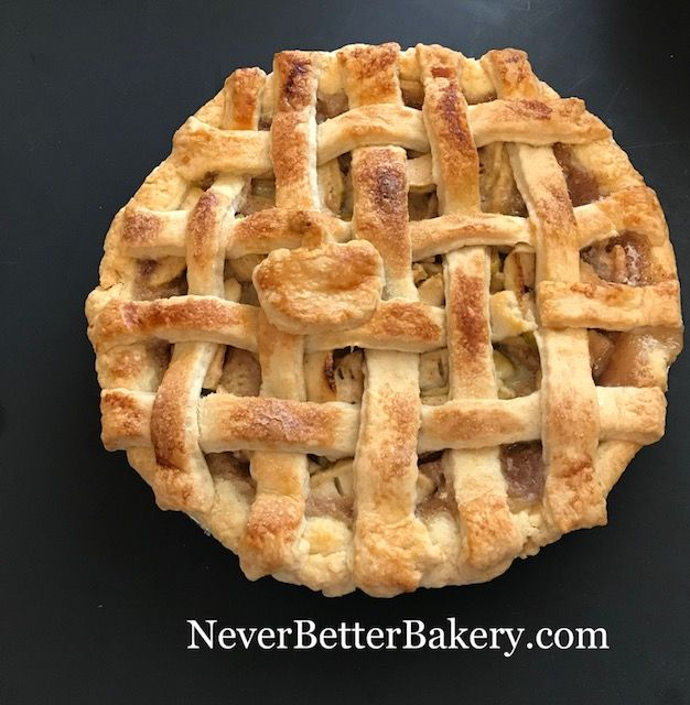 Lattice top apple pie. Everything from scratch.