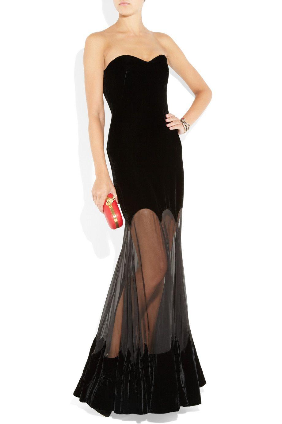 Alexander mcqueen strapless velvet gown inspiration u ideaus