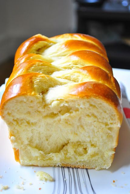 Cuisinons en Couleurs: Brioche Tressée Seulement 70 gr de beurre ! et 1 oeuf !
