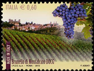 Stamp: Made in Italy - Wines: Brunello di Montalcino DOCG (Italy) (Made in…