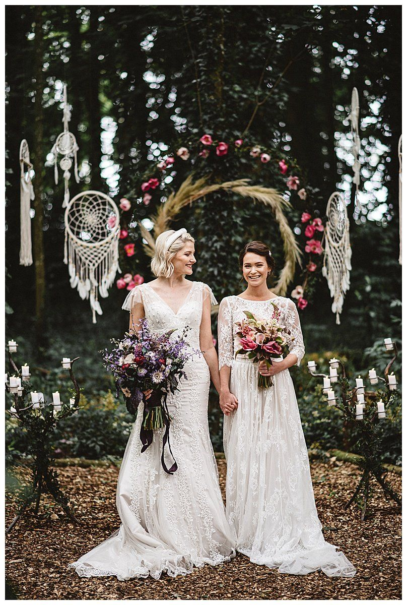 Romantic French Chateau Wedding In The Woods Love Inc Mag In 2020 Lesbian Wedding Lesbian Wedding Photography Romantic Wedding Dress Lace