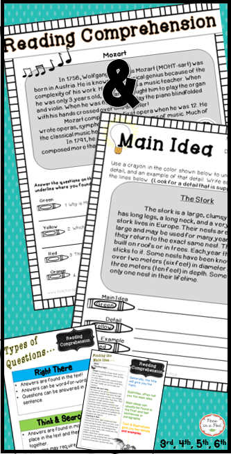 Main Idea (non-fiction), Reading Comprehension History, & Strategies ...