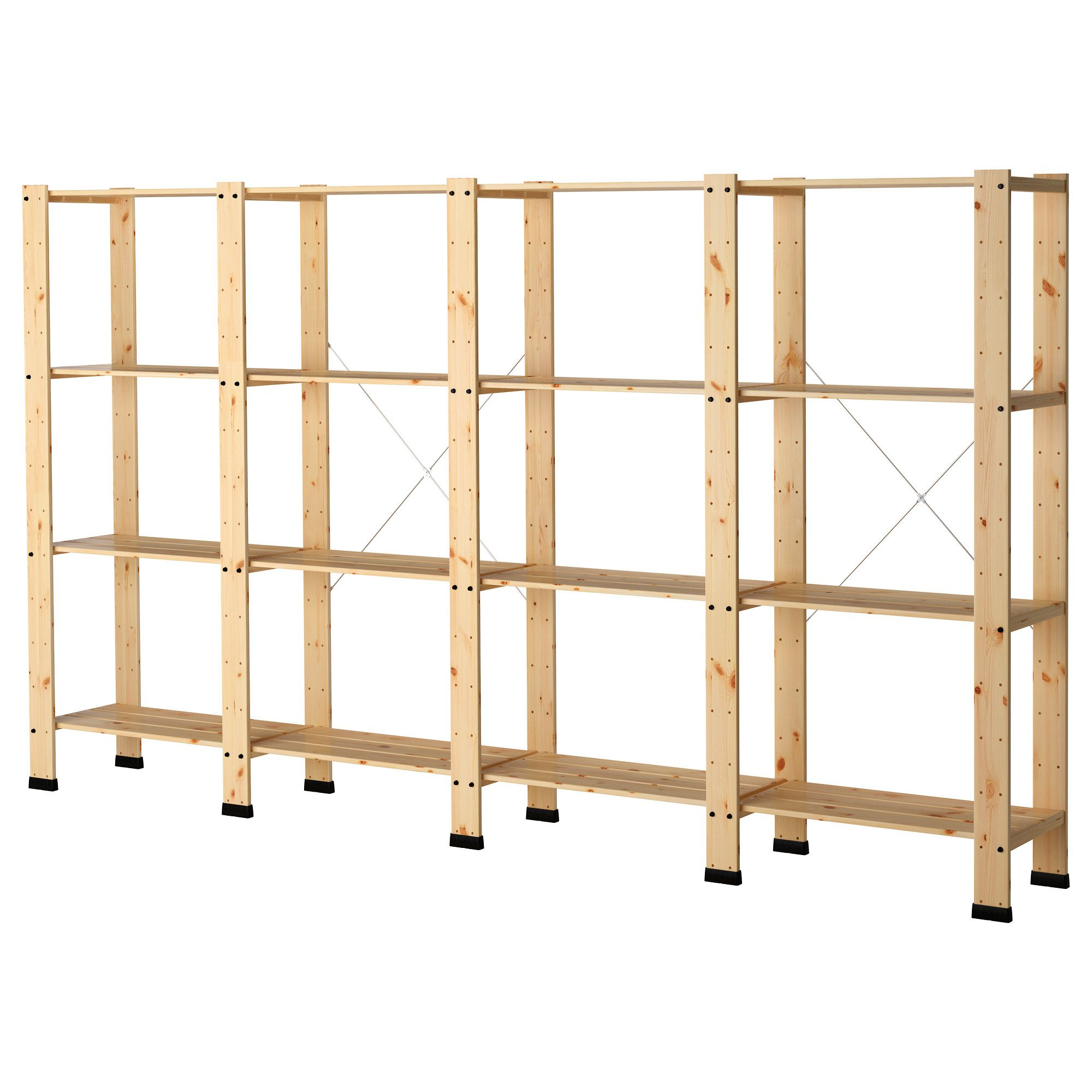 Gorm 4 Sections With Shelves  Ikea