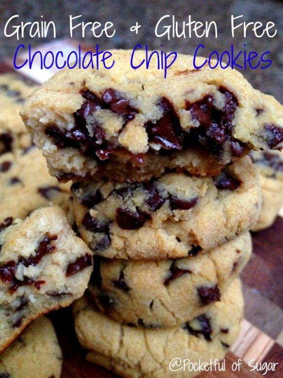 Grain Free & Gluten Free Chocolate Chip Cookies - Pocketful of Sugar
