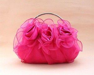 Wonderful Gorgeous Pink Colour Clutches Purses Handbags Trendy