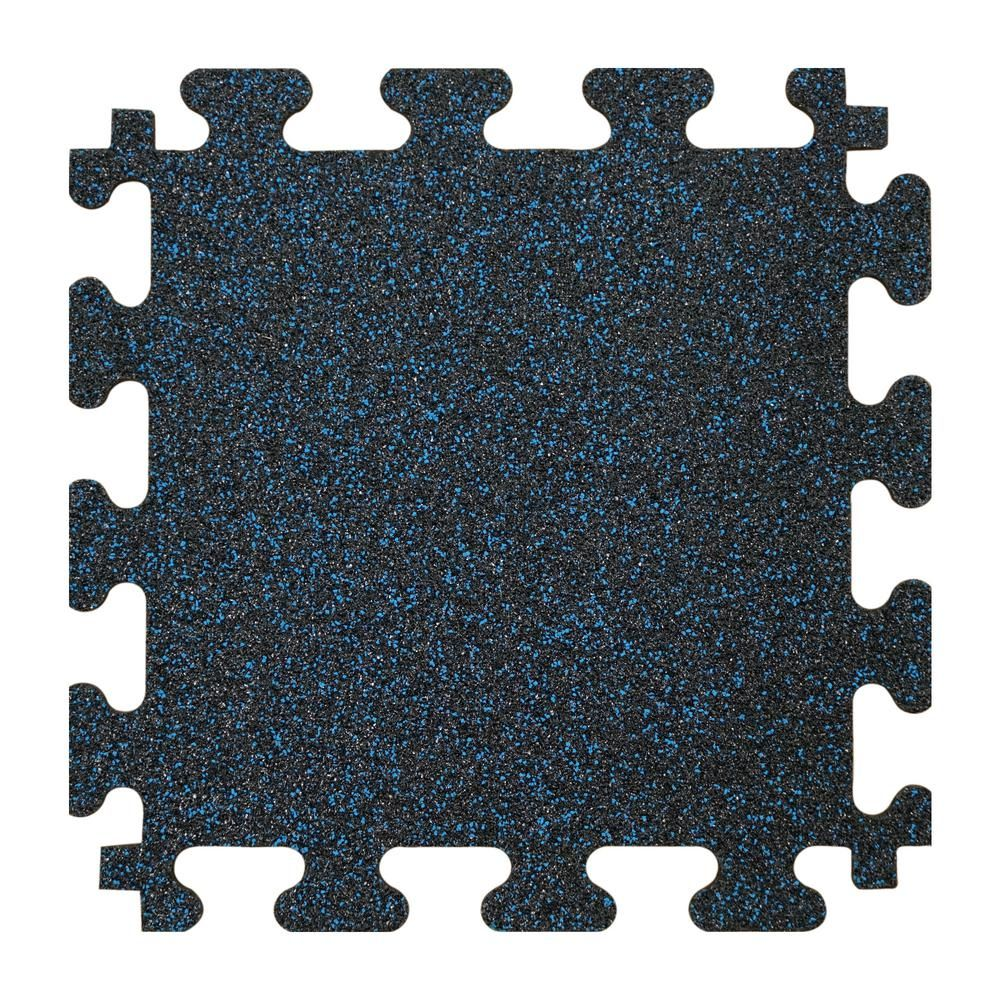 TrafficMASTER Black with Blue Flecks 37 in. x 56 in. x 8