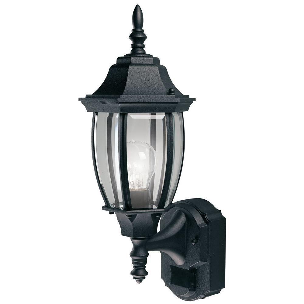 Heath zenith degree black alexandria lantern with curved beveled