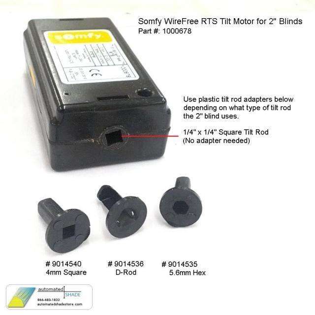 Somfy Wirefree Rts Tilt Motor 1000678 Automated Shade Online Store Motorized Blinds Diy Blinds Motor