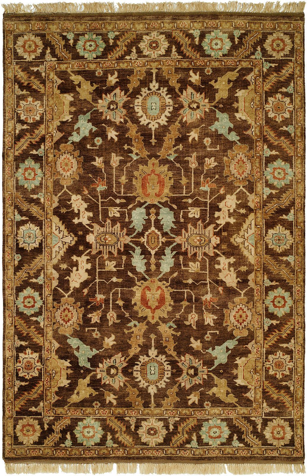 Khafji Hand-Knotted Brown Area Rug