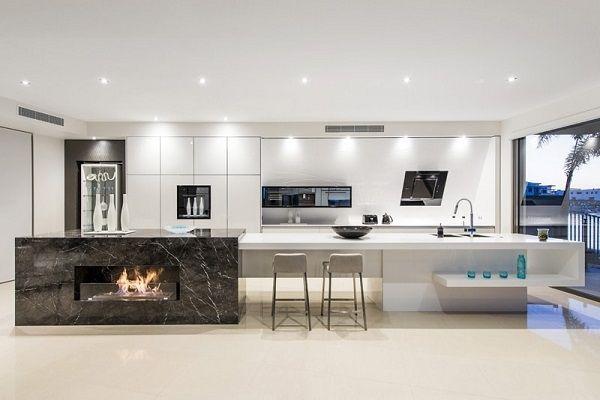 de 50 fotos de decoracin de cocinas blancas modernas blanco negro y gris