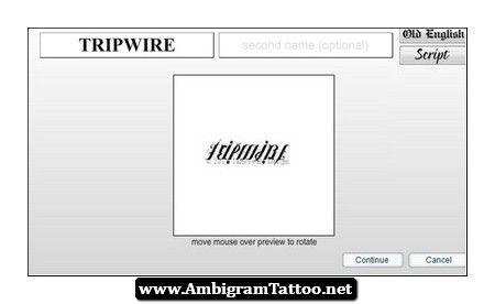 Ambigrams Tattoo Maker