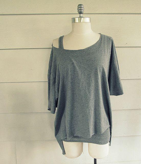 Open Back, No Sew T-Shirt: DIY | Nähen