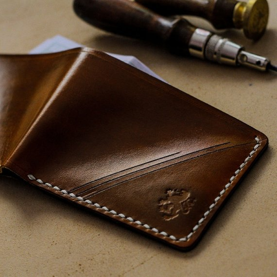 Personalized Retro Leather Coin Case Card Holder Wallets Mens Womens Custom Gift