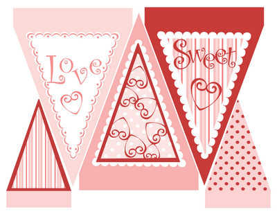 photo relating to Valentine Banner Printable titled 30 Do it yourself Valentine Bunting and Banners towards Deliver Printables