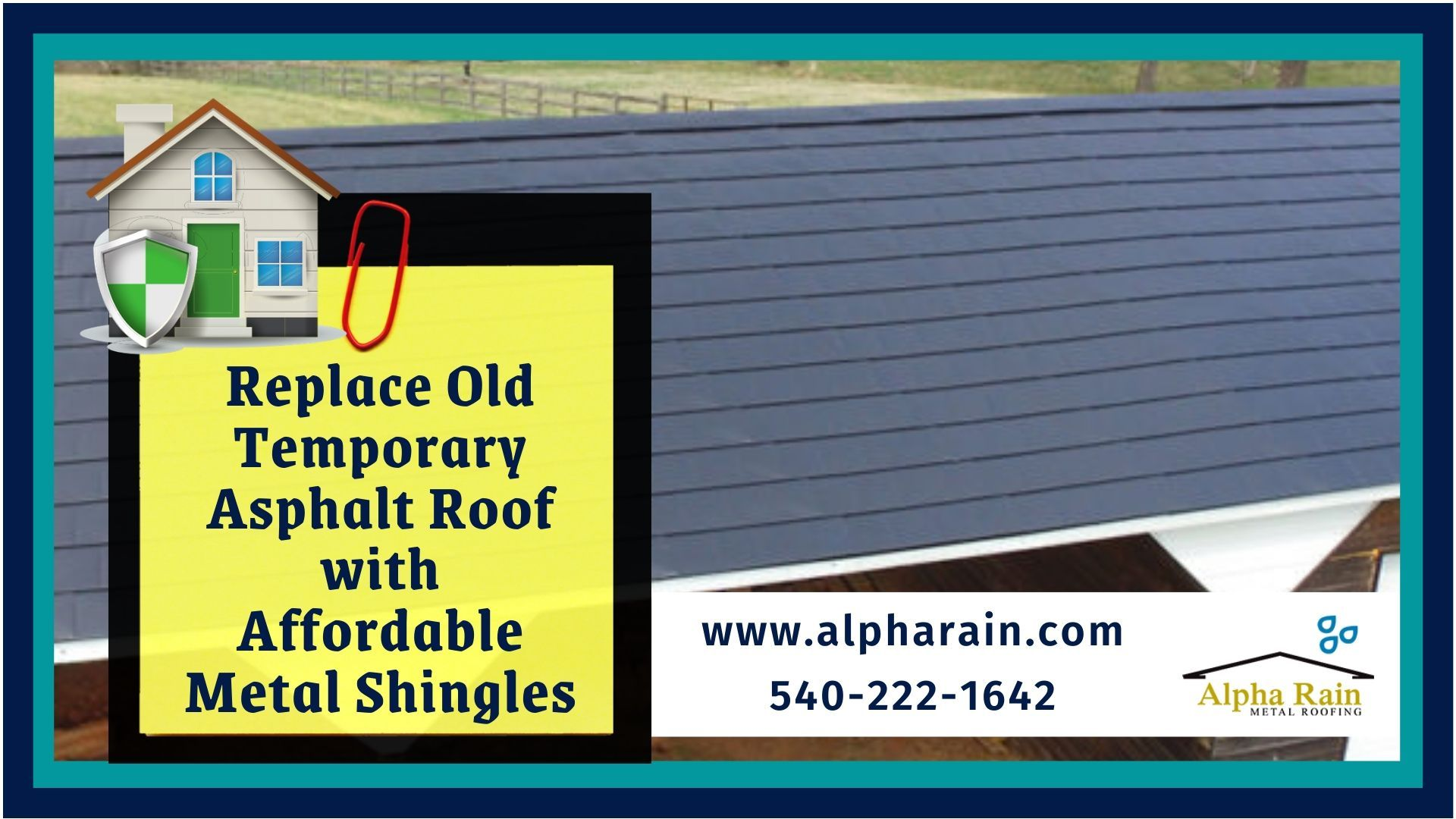 Replace Old Temporary Roof With Affordable Metal Shingles In 2020 Metal Shingle Roof Shingling Metal Shingles