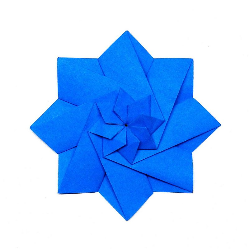 Star flower star flower origami stars and origami origami star flower by samalan designer tomoko fuse mightylinksfo Gallery