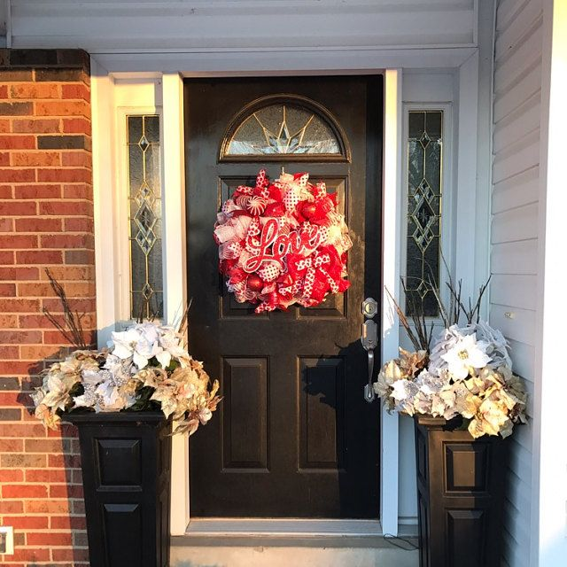 Photo of On SALE!! 20% OFF!! Rose Gold Christmas wreath, Christmas deco mesh wreath Christmas door decor, Beautiful wreath, Ready to Ship wreath