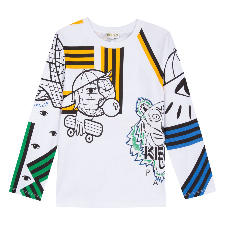 Kenzo Kids Multi Graphic Long Sleeve T-Shirt