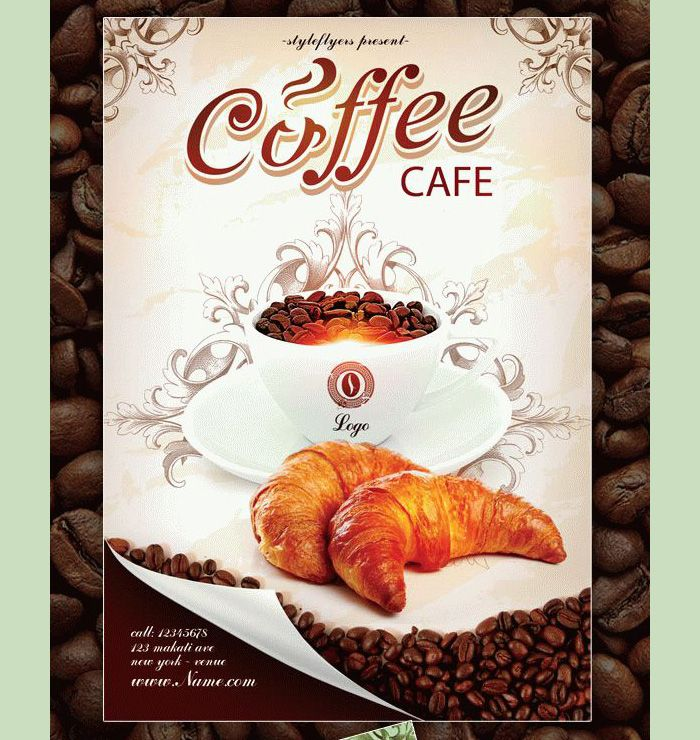 Coffee Cafe Flyer Template Free Download Flyer Templates