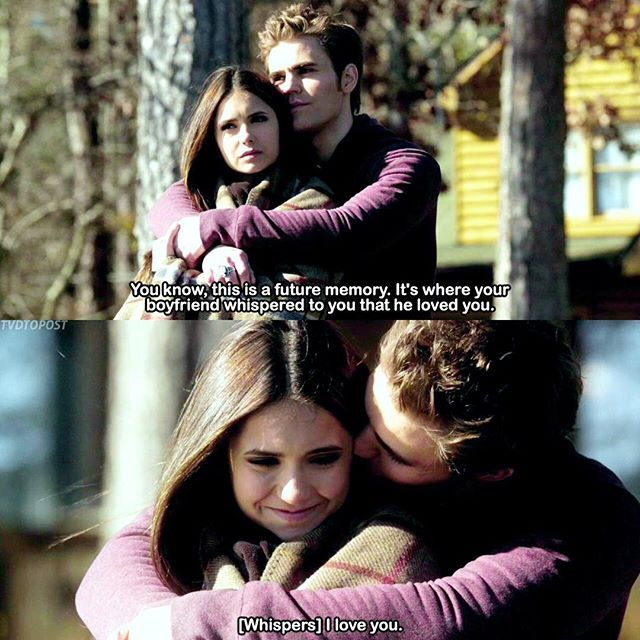 "#ElenaShipsWeek Day 5 — Elena & Stefan❤️ [2x14] ""Crying Wolf"" I'm not a Stelena shipper but I thought this was pretty cute  —"