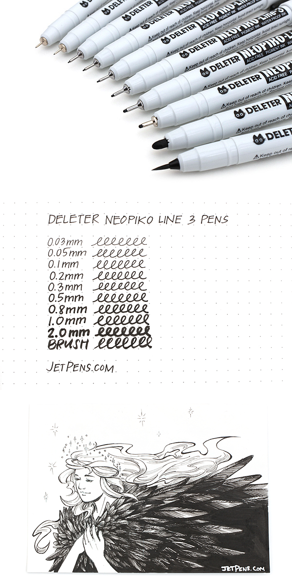 Available In A Range Of Tip Sizes Neopiko Line 3 Pens Are Designed For Professional Artists Illustrators And Graphic Designers Drawing Supplies Art Pen