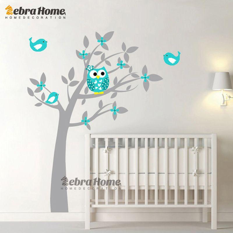 Hibou Vinyle Arbre Wall Sticker Stickers Mural Wallpaper Enfants