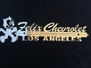 Felix The Cat Felix Chevrolet Los Angeles Ca. Car Trunk Emblem.