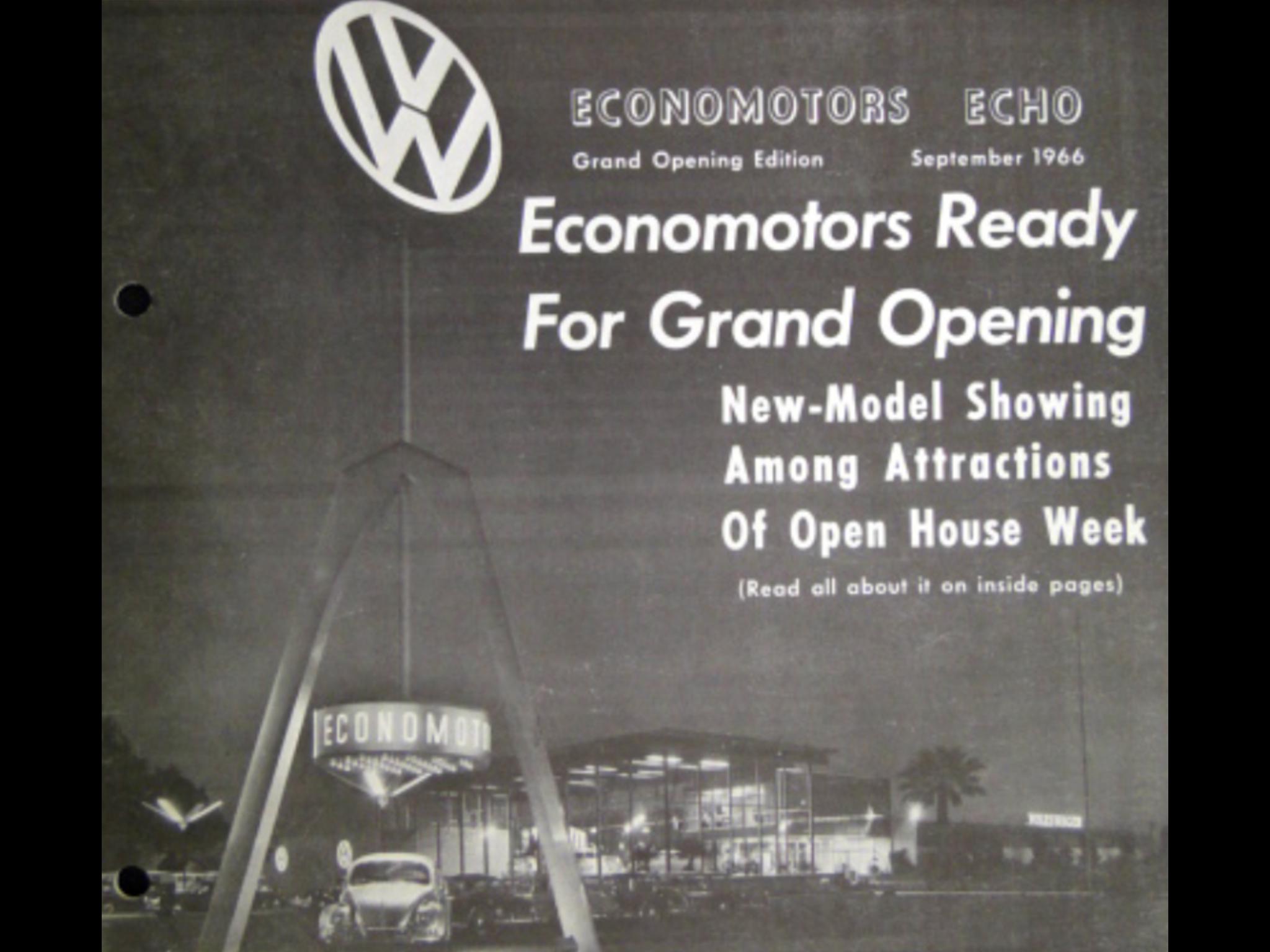 1966 Economotors Inc Volkswagen Dealership Riverside California Dealership Volkswagen Riverside