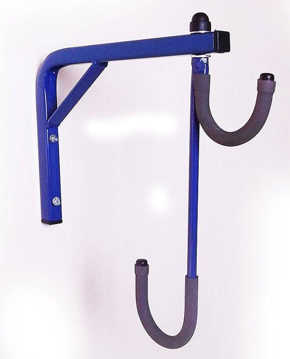 2 bike bicycle wall mounted hanging rack space saving. Black Bedroom Furniture Sets. Home Design Ideas