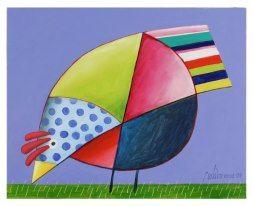 Gustavo Rosa | Pintura de galo, Pinturas de pássaros, Arte de frango