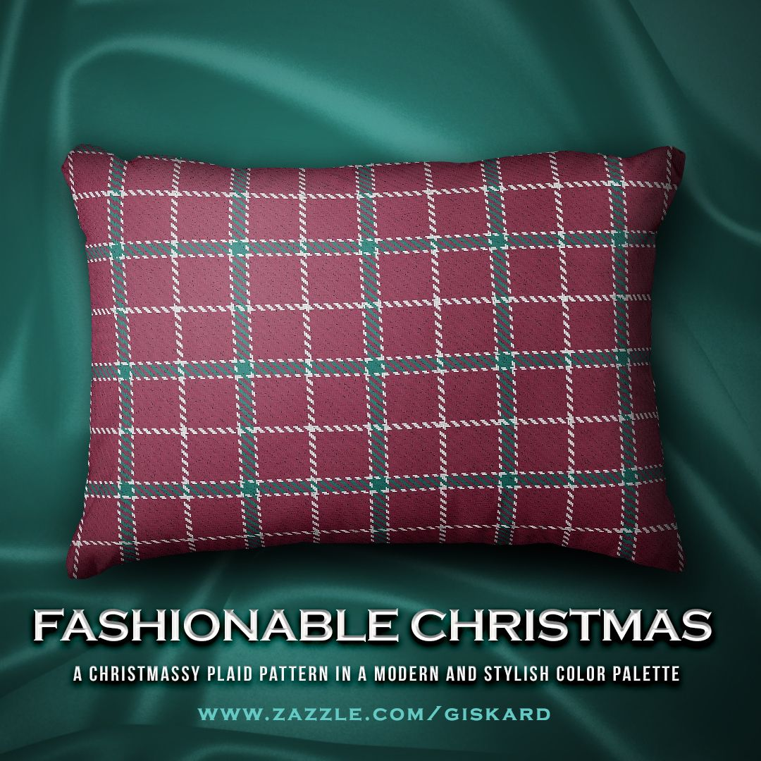 A Christmassy Plaid Pattern In A Modern And Stylish Color