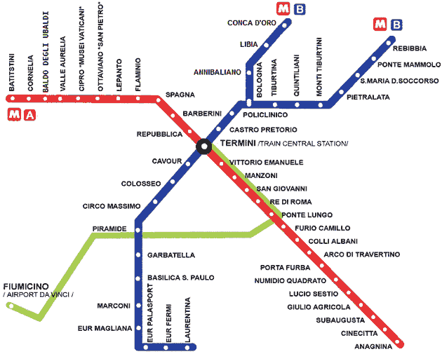Rome Metro Map With Attractions.Rome Metro Map Places I Have Been Pinterest Rome Map Rome And