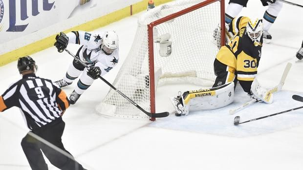 Patrick Marleau first goal Stanley Cup Finals.