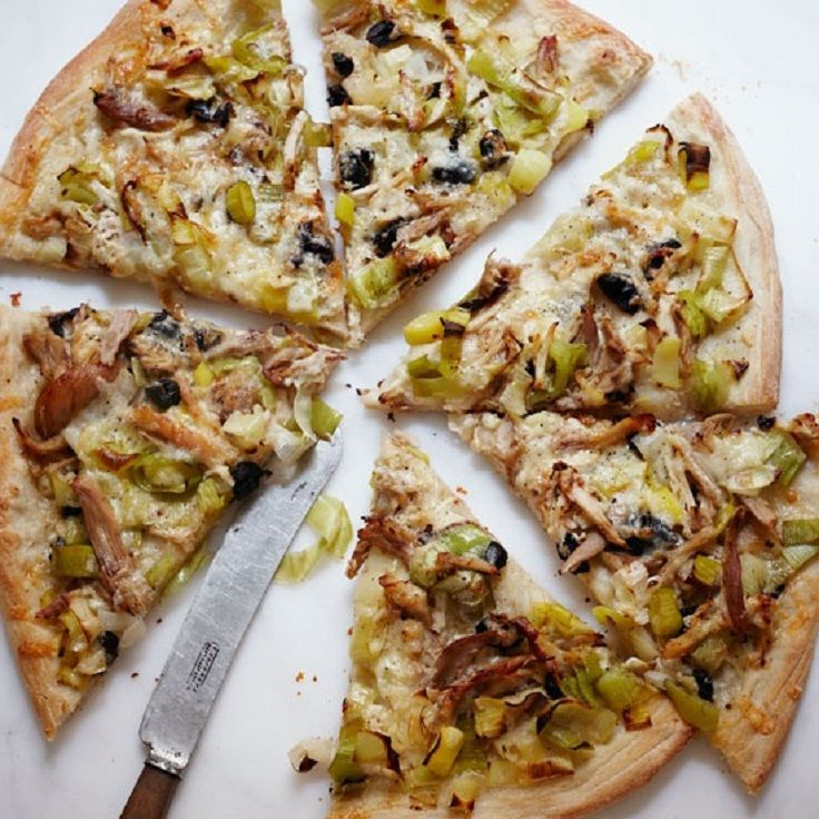 15 pizza and flatbread recipes food pinterest flatbread roasted chicken and leek pizza from food wine this recipe uses rotisserie chicken forumfinder Choice Image