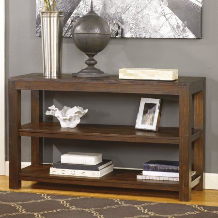 Signature Design By Ashley Grinlyn Rectangular Brown Sofa Table   Walmart .com
