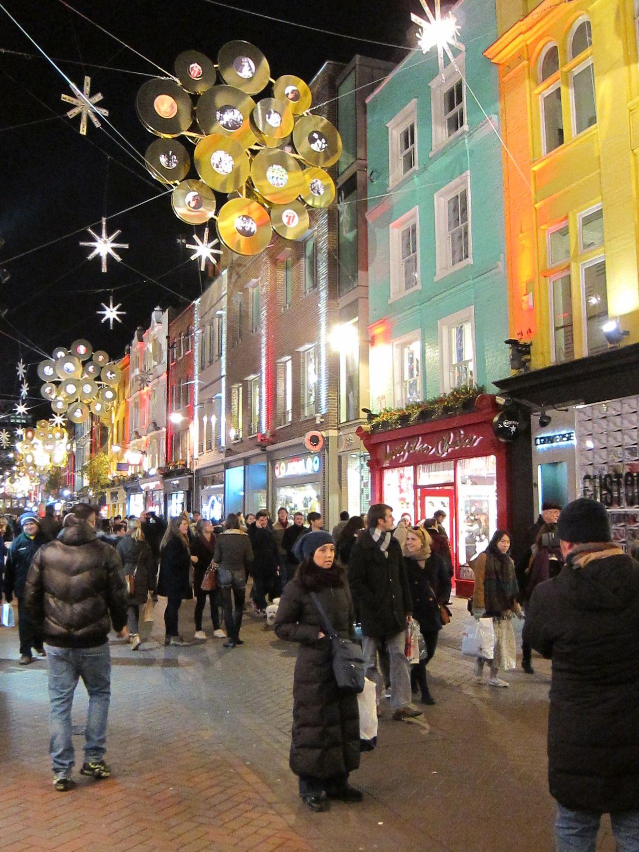 Christmas along Carnaby Street, London