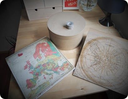 Decorar una caja kraft con motivos viajeros / DIY traveling box