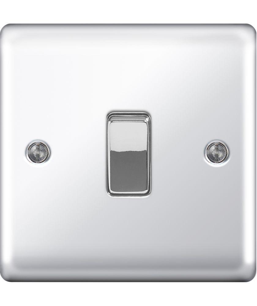 Buy Masterplug Single 2 Way Light Switch - Polished Chrome at Argos ...
