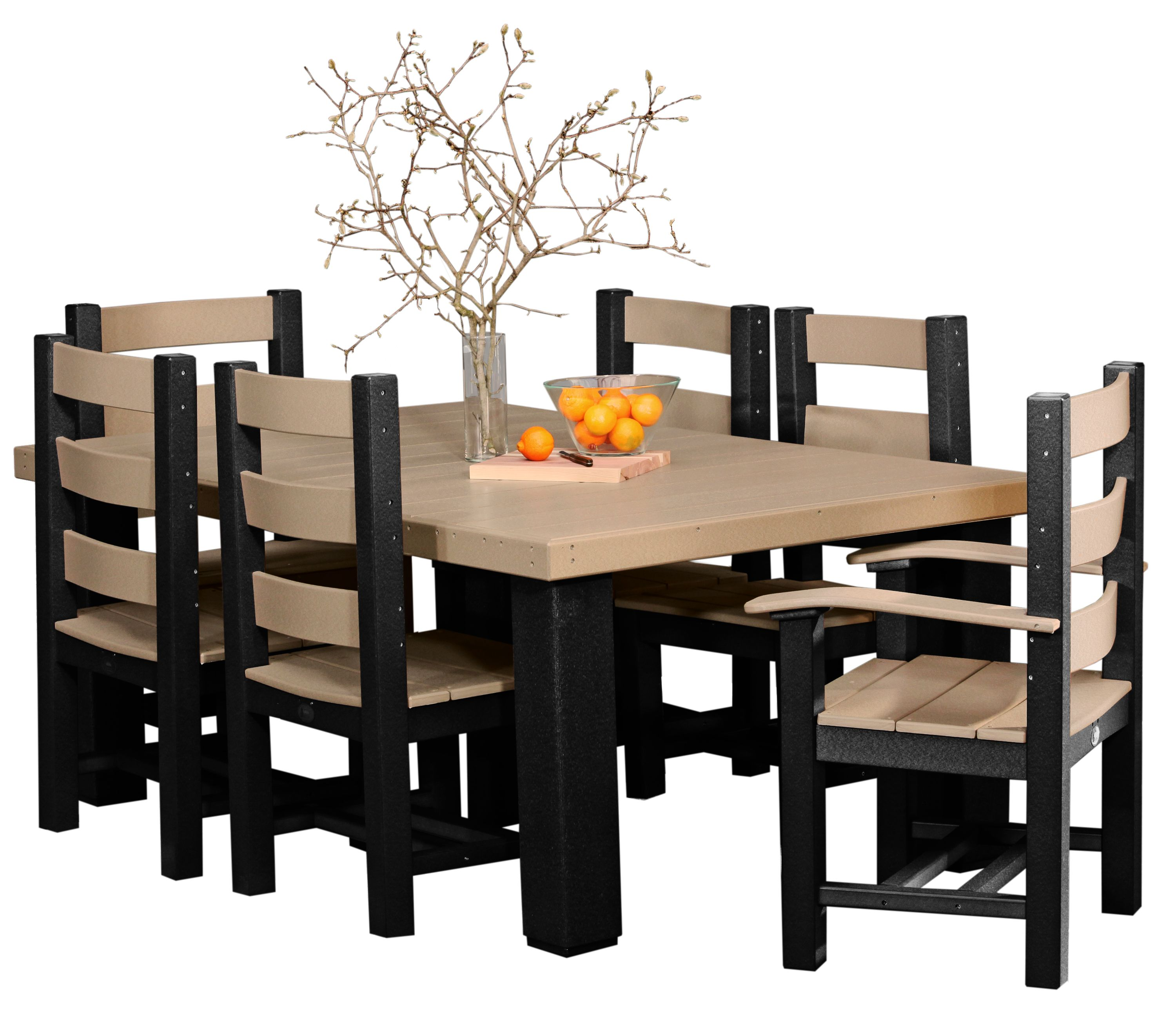 black amish kids table and chair set Tables & Chairs