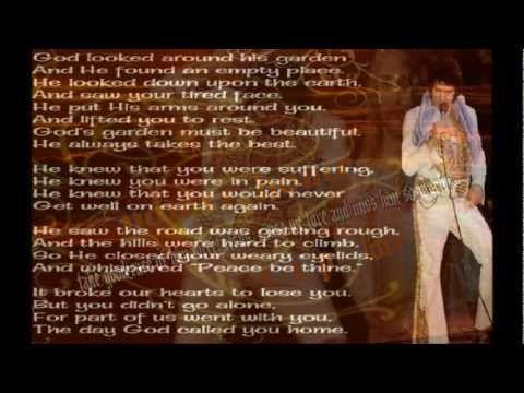 Elvis Presley Take My Hand Precious Lord With Lyrics Be Sure