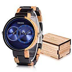 56d679987d8 BOBO BIRD R10 Men s Women s 2 Time Zone Wooden Watches Lightweight Luxury  Quartz Wristwatches Fashion Design Timepiece for Love .