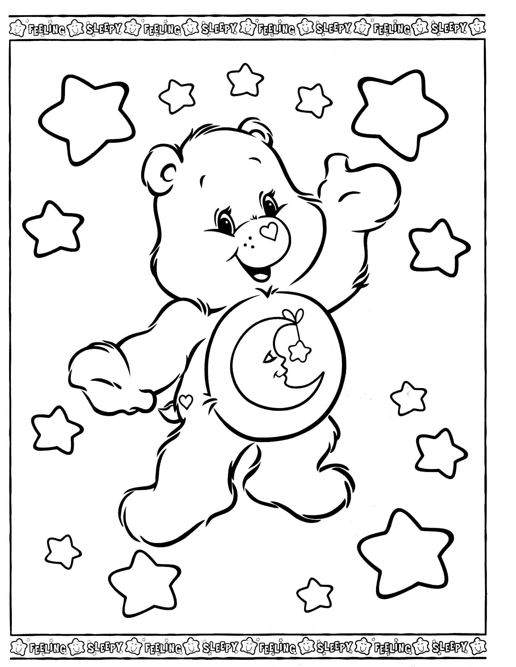 Bed Time Bear 2 Bear Coloring Pages Coloring Pages