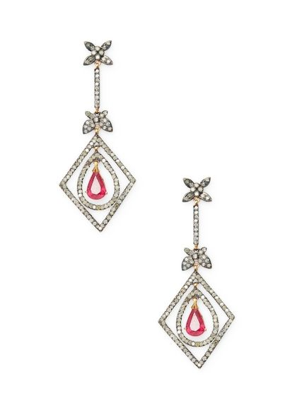 Ruby Diamond Chandelier Earrings Fashion 10 Year Old Pinterest And
