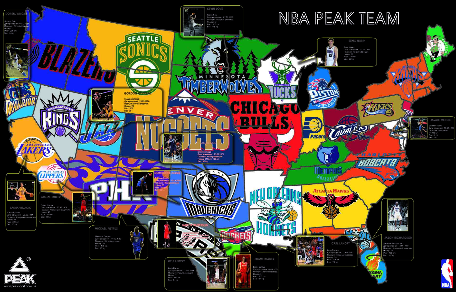Pin By Hilko Rensel On America On The Map Pinterest - Us map nba teams