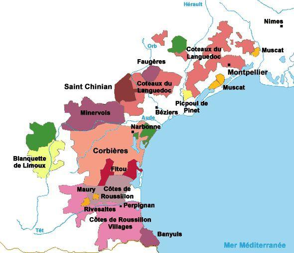 Виноградники и винодельни вокруг Нарбонны