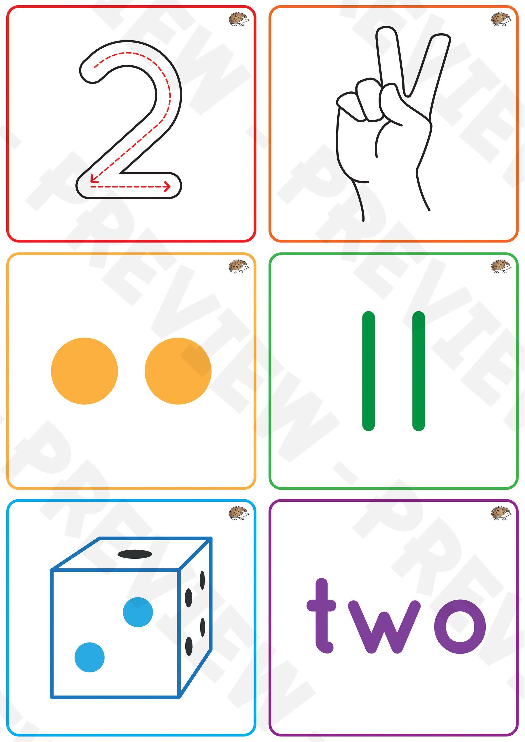 Number Comprehension Cards